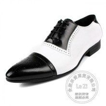 Brogue Street Fashion Men s Dress font b Shoes b font Bridegroom Cowhide Punched Men Oxford