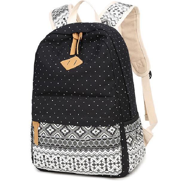 58a7747a9 Korean Canvas Printing Backpack Women School Bags for Teenage Girls Cute  Bookbags Vintage Laptop Backpacks Female kids-in Backpacks from Luggage &  Bags on ...
