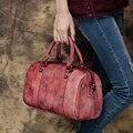 2017 Women Bags Genuine Leather Casual Top Handle Bag Handmade Cow Leather Female Handbag Shoulder Messenger Bag
