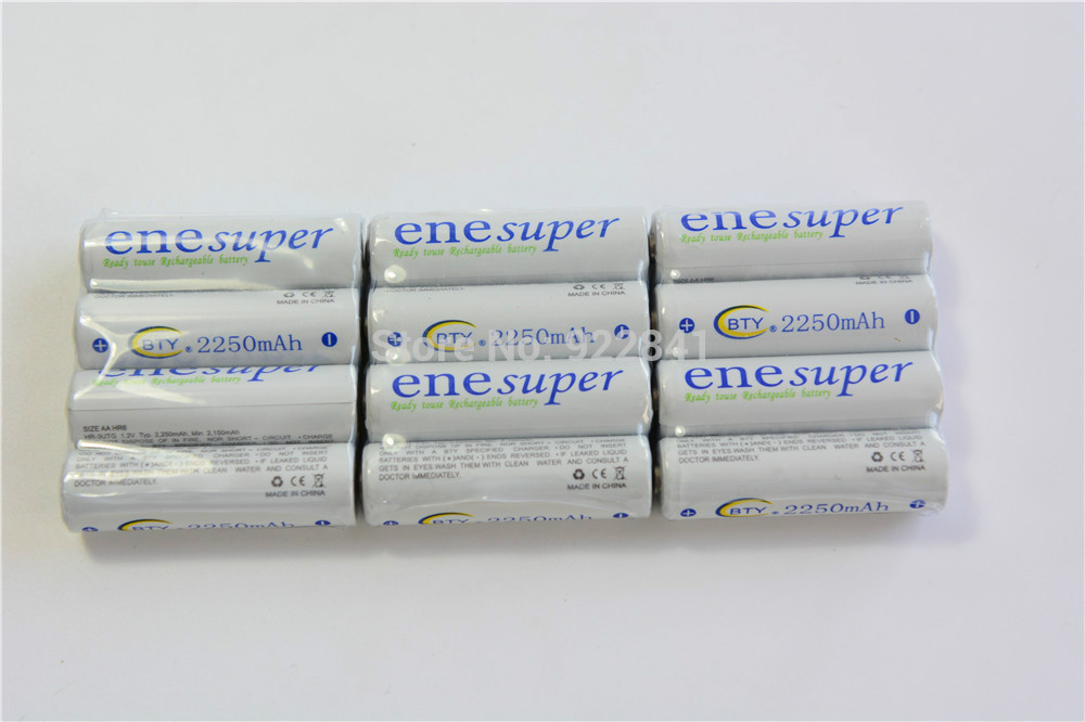 Shipping Free 4pcs/Lot 1.2V 2250mAh AA Ni-MH Rechargeable Battery RC Toy Bluetooth Mouse Bateria