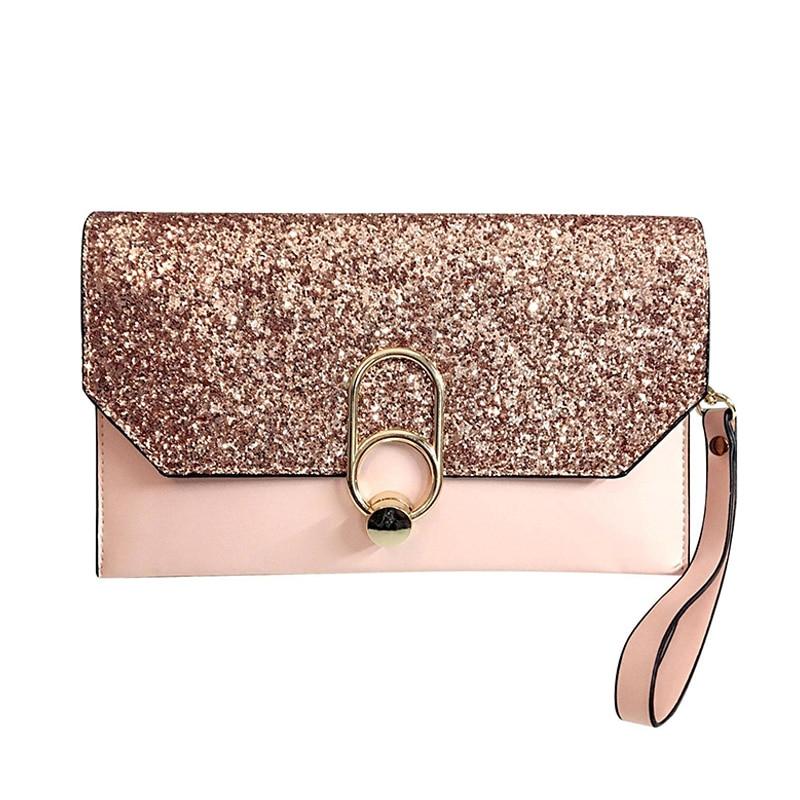 1 Pcs Frauen Dame Mädchen Handtasche Brieftasche Tasche Luxus Pu Mode Für Handy Geld Bs88