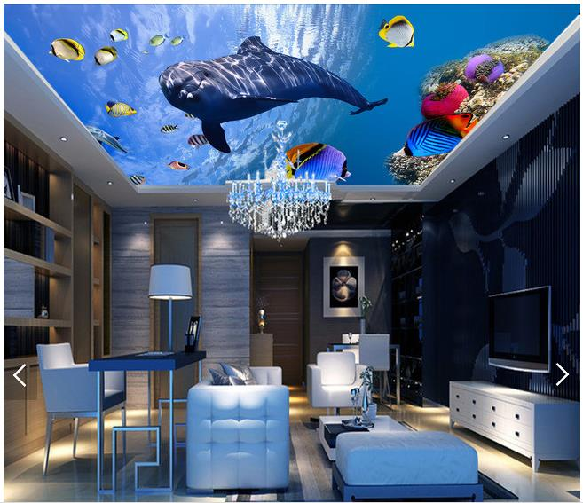 Customized 3d Ceiling Wallpaper Mural 3d Wallpaper 3 D