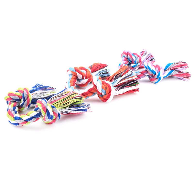 Bawełna żuć zabawki szkoleniowe czyszczenie zębów węzeł zabawkowe zwierzątko dostarcza trwałą pleciona kość liny Pet Dog
