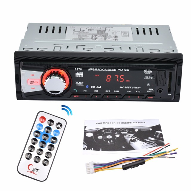 CARKUCO Car Stereo Bluetooth Car MP3 Player Auto Radio Plug in Card ...