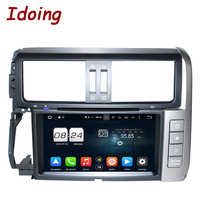 Idoing 2Din Steering Wheel Android6 0For Toyota Prado 2010 Car DVD Player 2G RAM 32G ROM