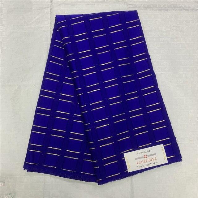 Nuovo modo di arrivo budai tessuto 100% del merletto del cotone con oro lind atiku tessuto per gli uomini prezzo di fabbrica con trasporto libero 5 yards/lot
