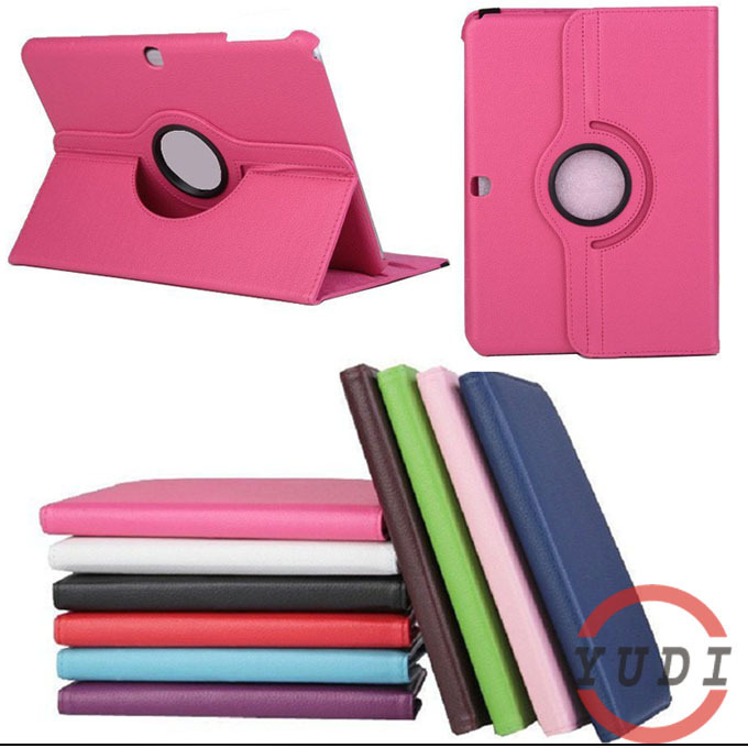 Fashion 360 Rotating Leather For Samsung Galaxy Tab4 Tab 4 T530 t531 10.1 CasePorcelain Stand Book Cover tablet Accessories