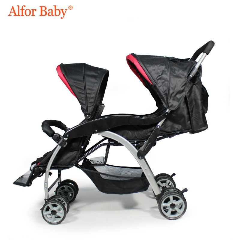 Twin Baby Stroller Double Lightweight Folding Shock Absorber Comfort Cart Two Child Stroller hot selling twin baby stroller double seats for babies lightweight twin baby prams stroller wholesales twin pushchair on sale