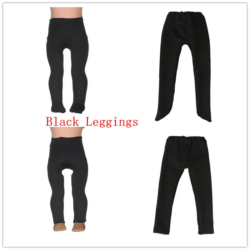 2 Kinds Black Leggings Tight Pants Fit 18 Inches American  Doll Baby Doll Clothes Accessories Handmade Fashion Pants Clothes