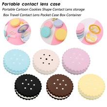 Oreo contact lens box Portable Cartoon Cookies Shape Contact Lens storage Box Travel Contact Lens Pocket Case Box Container contact