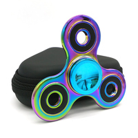 Premium Quality EDC Fidget Spinner Metal Rainbow Spiner Anti Anxiety Toy For Spinners Focus Relieves Stress