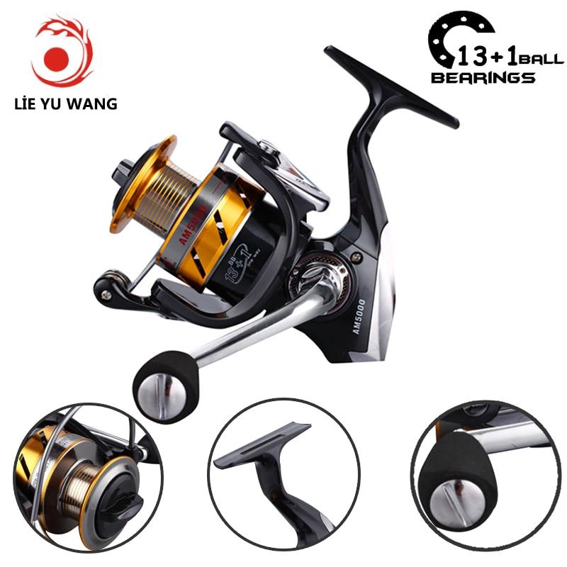 Lieyuwang 14BB Metal Body Spinning Feeder Carretes de pesca Carpa One - Pescando