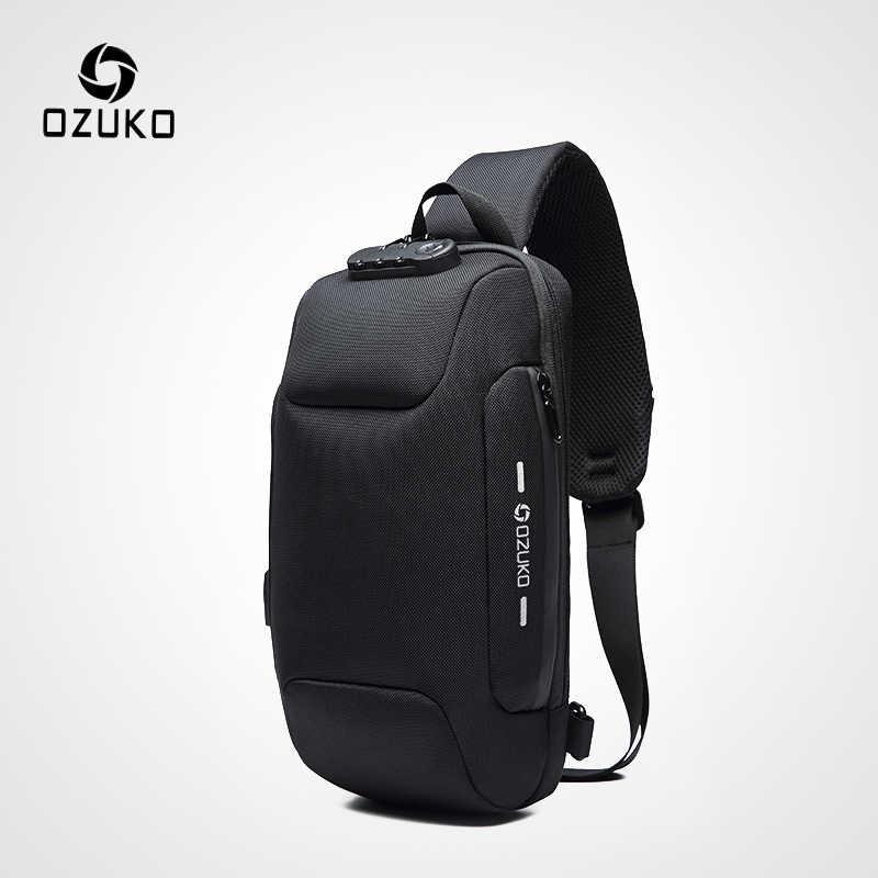 26fc1b7ed OZUKO 2019 New Multifunction Crossbody Bag for Men Anti-theft Shoulder  Messenger Bags Male Waterproof
