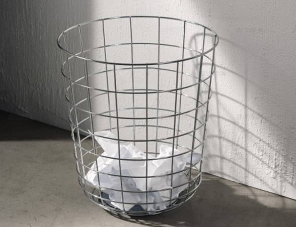 Wire Waste Paper Basket aliexpress : buy modern design waste paper bin basket dusbin