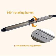 Cheaper Professional Hair Curler Styling Tools Digital Wave Hair LED Titanium 360 Free Rotation Hair curlers Magic Curling Iron Stick 37
