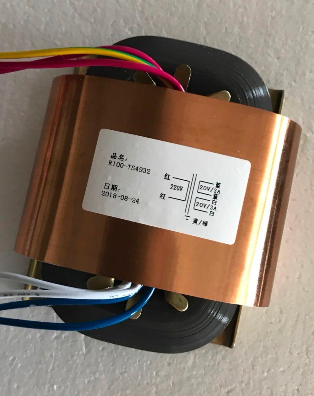 20V 3A 20V 3A R Core Transformer 120VA R100 custom transformer 220V copper shield Power amplifier20V 3A 20V 3A R Core Transformer 120VA R100 custom transformer 220V copper shield Power amplifier