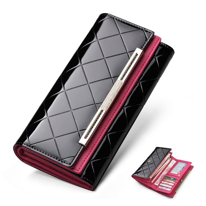 Sendefn Wallet Luxury Wallet Female Patent Leather Clutch Lady Party Purse Hot Sale Wallet Women Purse Women Shiny Women Purse все цены