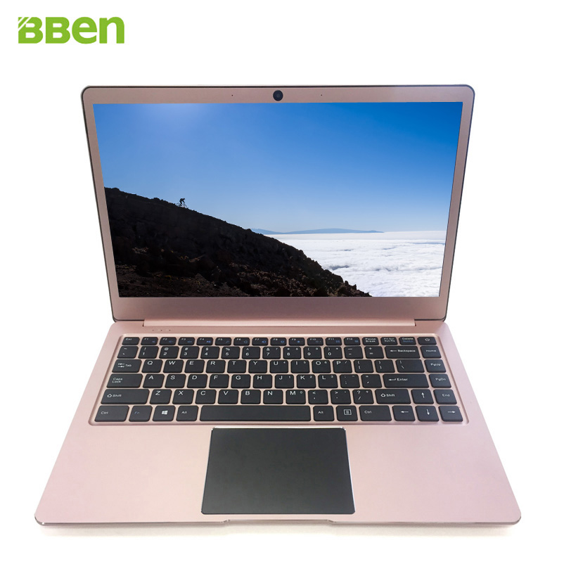 Ordinateur portable Bben14.1inch Ultrabook Intel Apollo Lake N3450 4 GB/64 GB avec fente SSD M.2, pré-installation en métal FHD windows10
