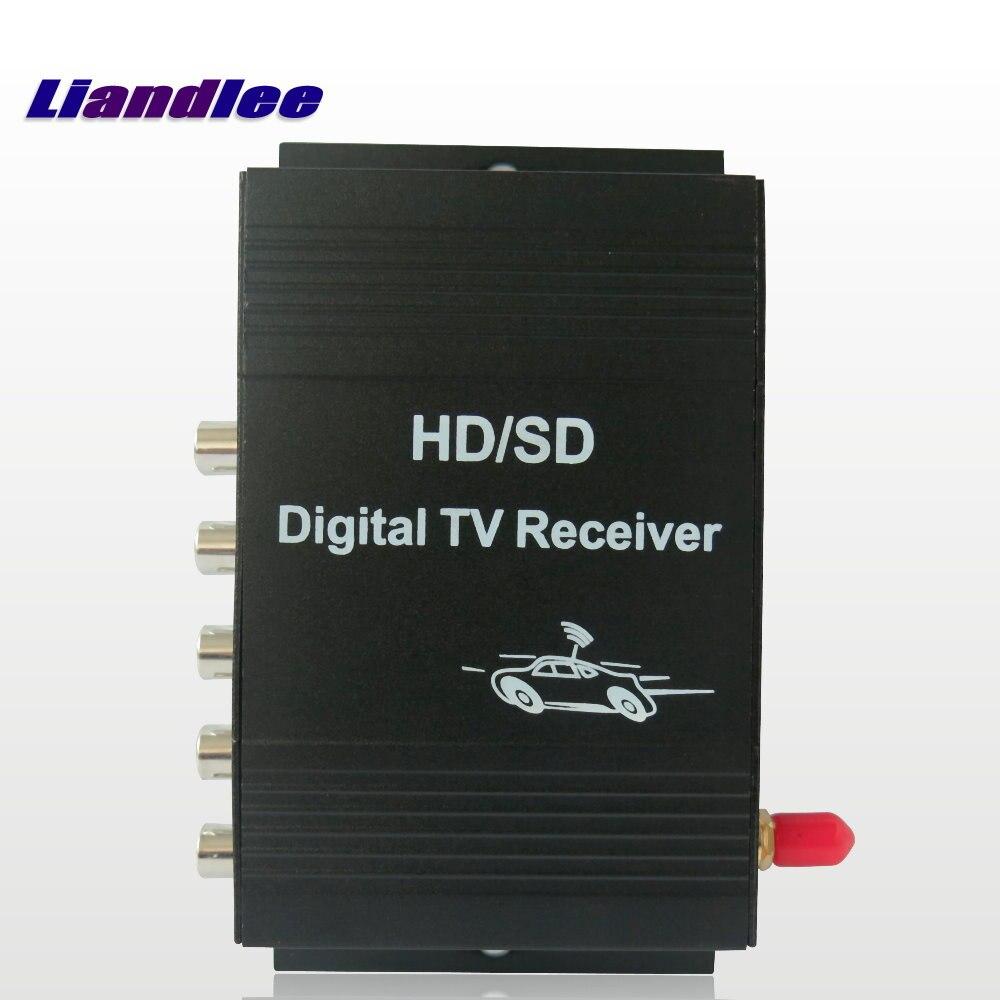 купить Lindale Car Digital TV ATSC Receiver DTV Mobile HD Tuner Antenna Host For Audi For BWM For Mercedes Benz For VW For Skoda недорого