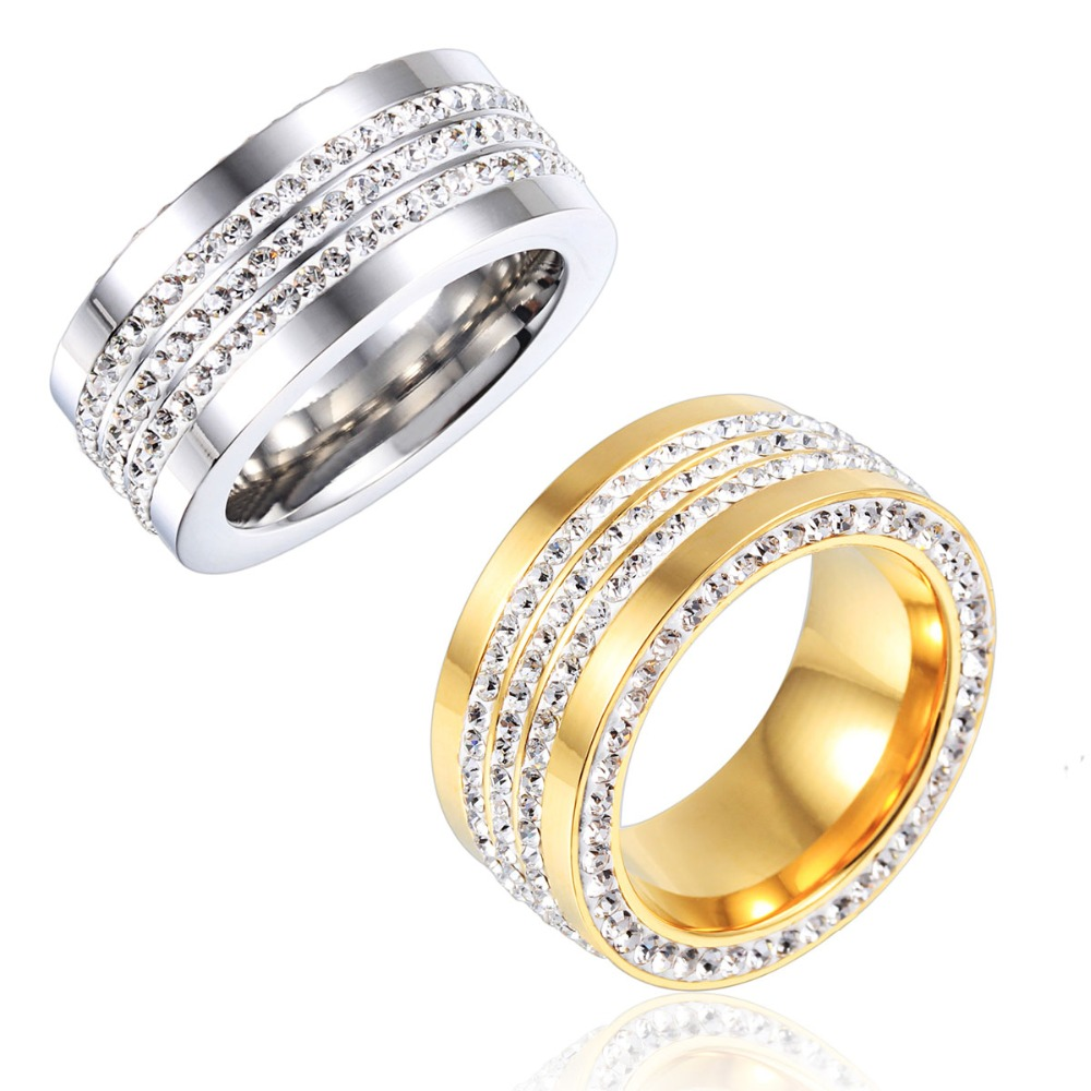 Fashion Noble Luxury Unisex Silver Italian Gold Jewelry Ring for