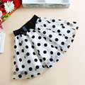 summer style skirts womens print  polka dot skirt organza chiffon TuTu mini skirts