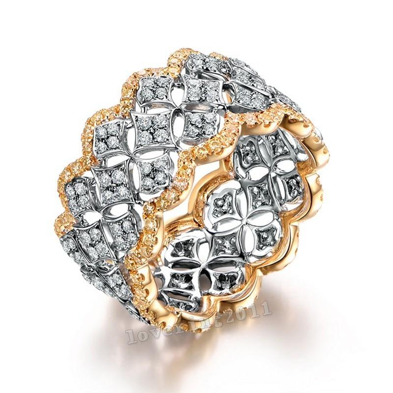 Size5-11 Stunning Unique Desgin Mewah Perhiasan 214Pcs AAA CZ 925 - Perhiasan fesyen - Foto 2