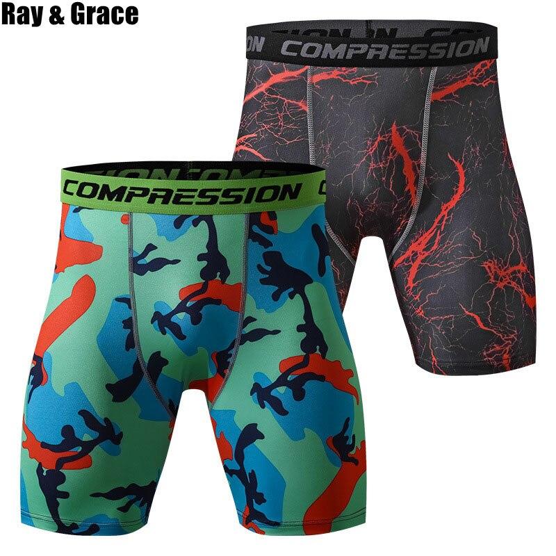 35a555910f26 RAY GRACE los hombres de secado rápido corriendo medias pantalones cortos  de deporte de compresión ...