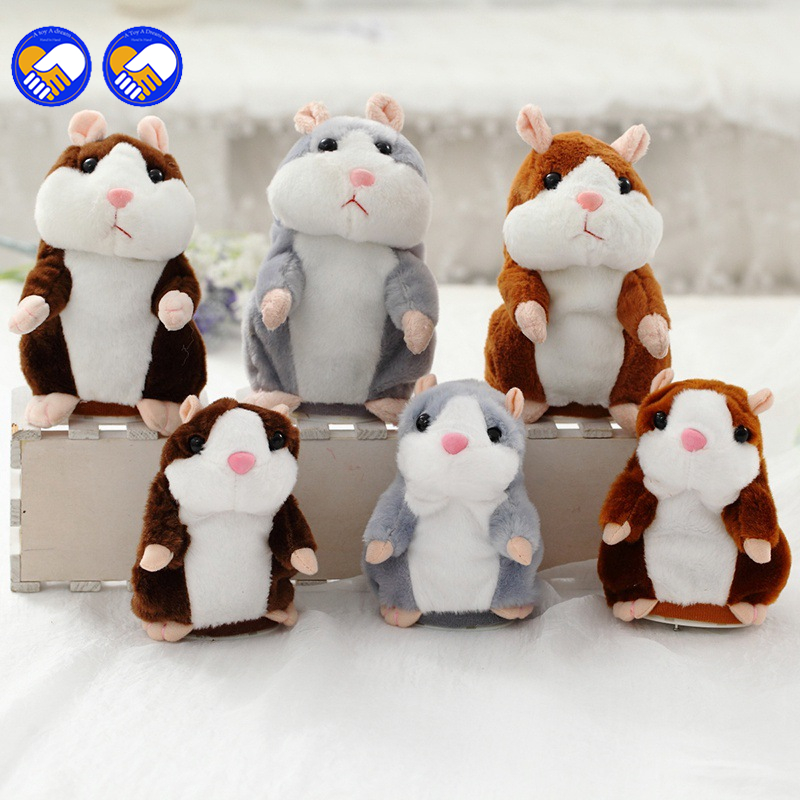 A toy A dream 2017 Talking Hamster Mouse Pet Plush Toy Hot Cute Sound Record Hamster Educational Toy for Kids Christmas Gift ysdx 811 video version mimicry pet talking hamster plush toy for kids grey light yellow pink