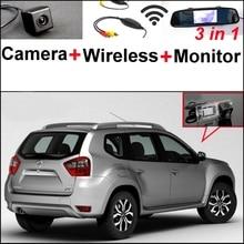 Sistema de Aparcamiento Para Nissan Terrano 3 in1 + Vista Trasera Especial Wifi de La Cámara + Receptor Inalámbrico + Monitor Del Espejo DIY Fácil de Nuevo arriba