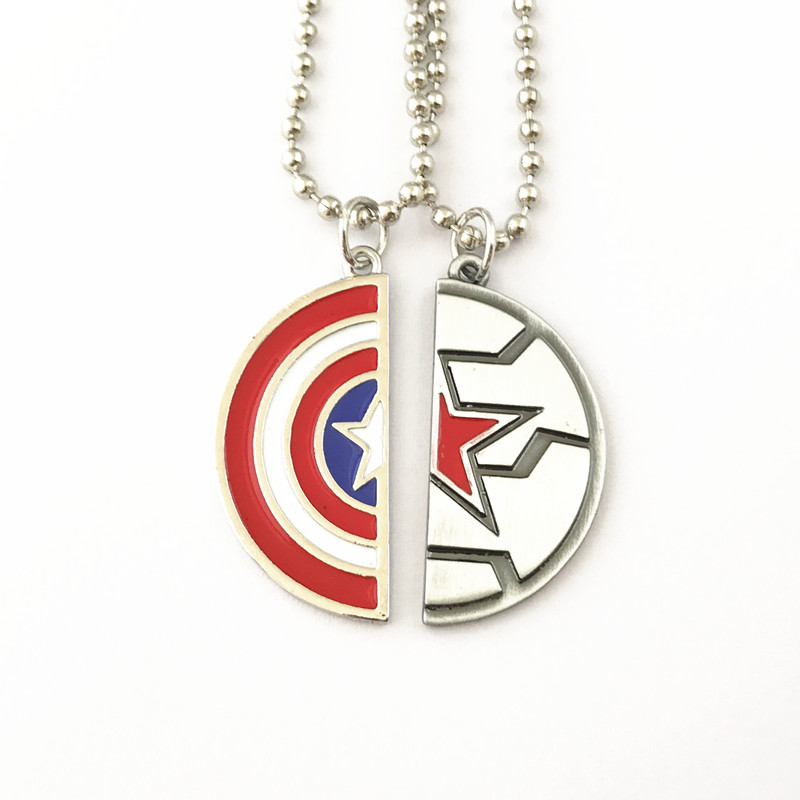 FANTASY UNIVERSE Freeshipping 1pcs Captain America and Winter soldier Necklace SDKFMD01 movie captain america the winter soldier black widow cosplay costume custom made any size