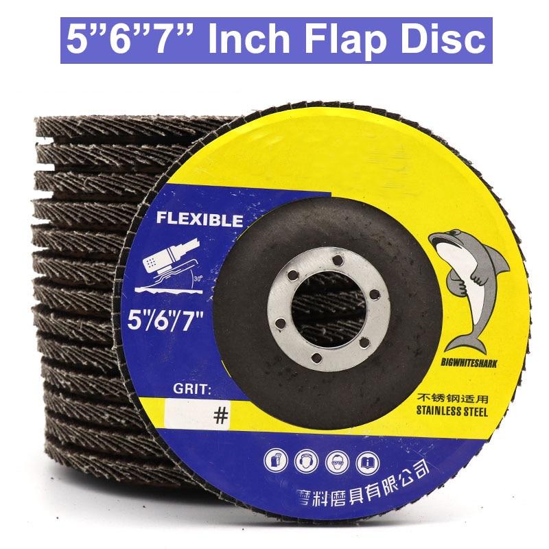 "5Pcs 2/"" inch FLAP DISC SANDING GRINDING WHEEL 60 GRIT Paper"