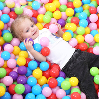 400 Pcs/Lot Plastic Ball Eco Friendly Colorful Balls Soft Kids Swim Pit Toys Outdoor Beach Ocean Wave Ball Water Pool Toy 5.5 cm