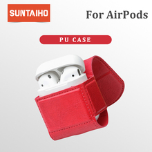 Suntaiho for Airpods Case airpods accessories headphone box apple case Cover leather