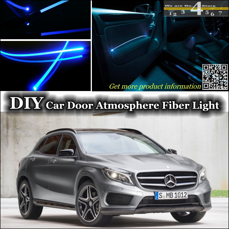 Interior Ambient Light Tuning Atmosphere Fiber Optic Band Lights For Mercedes Benz GLAMB X156 Inside Door Panel Illumination
