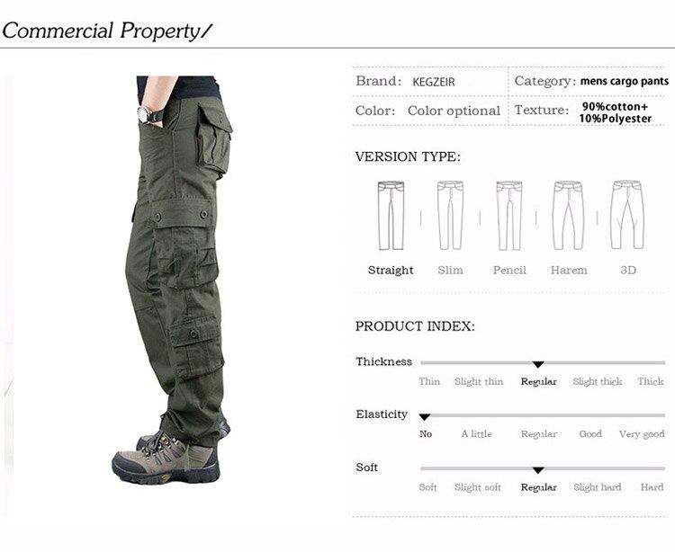 19 Spring Winter Military Pants Men Khaki Cargo trousers Casual Cotton Tactical Pants Men Big Size Army Overol Hombre 2