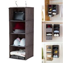 Newly Multi Layer Wardrobe Clothes Storage Hanging Bag Drawer Organizers Underwear Socks Holder Sorting XSD88