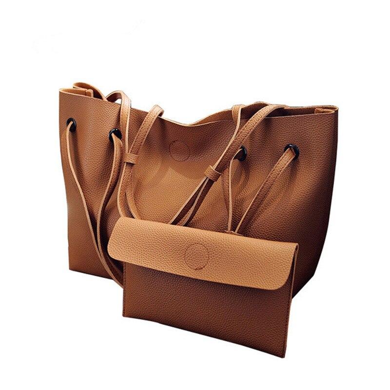 Fresh women shoulder bag female tote composite handbag simple large capacity ladies pack