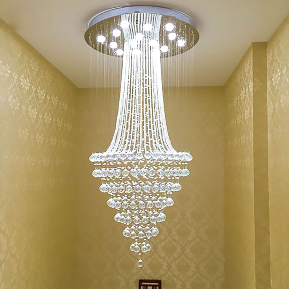 Top Staircase Chandelier Restaurant Crystal Light Villa Thermocline Living Room Headlights New Ideas