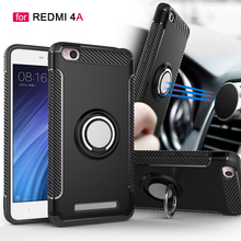 Brackets bumper case for Xiaomi redmi 4A case adsorption stant covers ring holder case covers for Redmi 4A bumper phone bag case