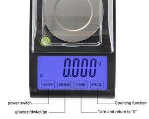 Image 5 - Alta precisão 50g 0.001g equilíbrio de laboratório lcd digital miligrama jóias diamante ouro laboratório escala eletrônico grama contando 0.001