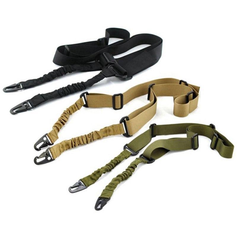 Nylon Ajustable Multi-función de Dos Punto Táctico Bungee Rifle Sling Correa de