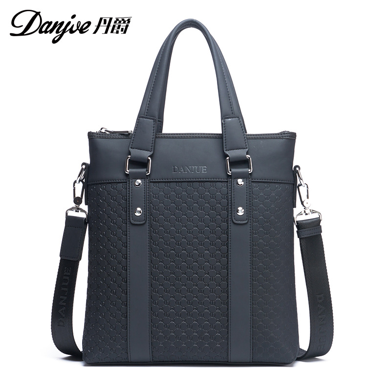 DANJUE Genuine Leather Men Messenger Bag split Man Business Bag Vertical Printing Men Shoulder Bag Trendy Daily Travel Bags