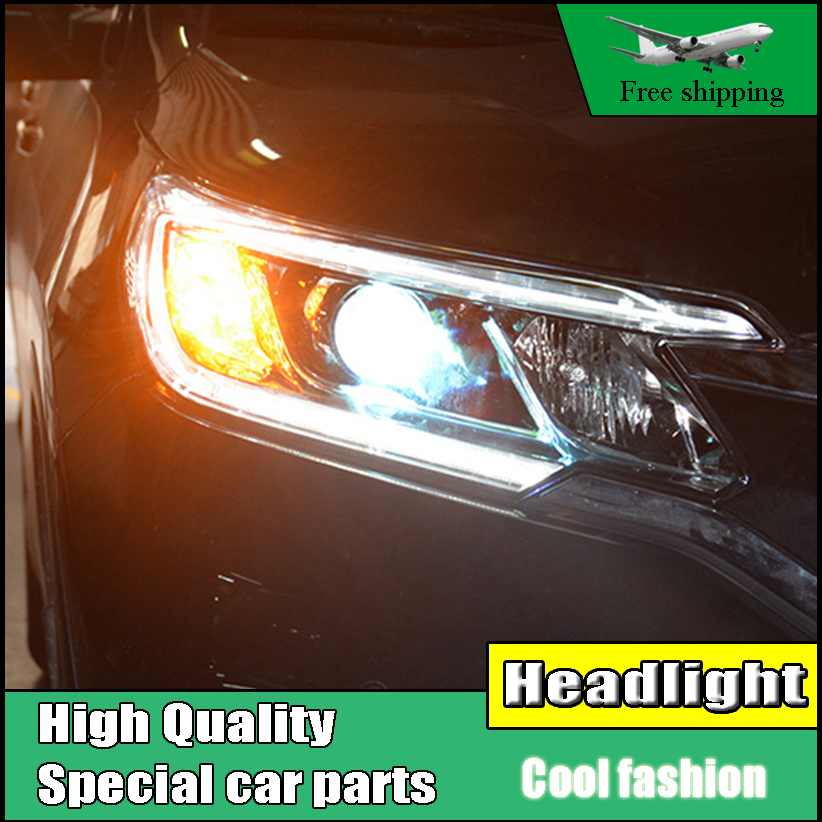 Car Styling Headlight For Honda CR-V CRV headlights 2015 2016 head lamp LED DRL front light Bi-Xenon Lens xenon HID car interior rear cargo trunk mat pad 1set artificial leather for honda crv cr v 2017 2018 car accessories styling