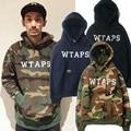 WTAPS Camouflage Hoodies Das Mulheres Dos Homens Marca de Roupas de Alta Qualidade Outono Inverno Quente Moda Casacos de Hip Hop Com Capuz Camisolas Homme