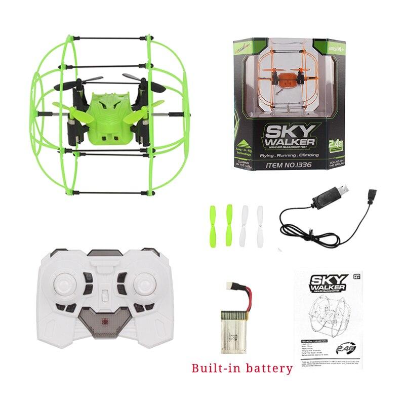 Helicomax rc zangão bola brinquedo quadcopter mini zangão céu walker 1336 2.4 ghz 4ch voar bola 3d flip roller drone rc helicóptero brinquedos