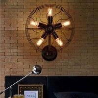 Индустриальный Стиль украшения лампа, кровать спальня стена света для чтения бар ресторан освещение Бра вилла лампы Вентилятор Стиль винта