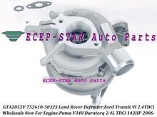 GTA2052V 752610 752610-5032S 6C1Q6K682EF 6C1Q6K682EK 6C1Q6K682EL Turbo For Land Rover Defender For Ford Transit 6 Puma 2.4L TDCi
