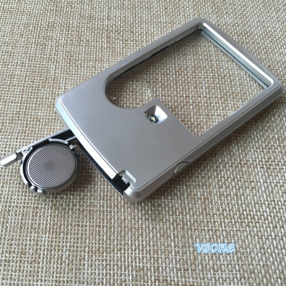 2 pcs Credit Card Style Magnifier 3X 6X Pocket Reading Handheld Magnifying Glass