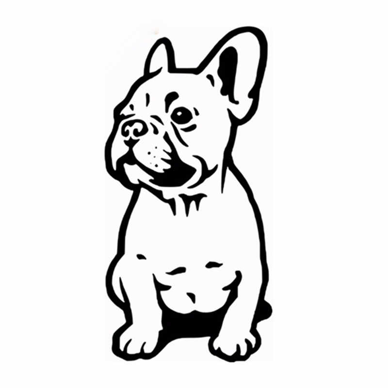 FRANSE BULLDOG MUURSTICKER AUTO BUMPER STICKER FRANCES HOND VINYL DECALS