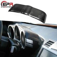 Для Nissan 350Z Z33 углеродное волокно циферблат тире крышка глянцевая отделка внутренний Дрифт гоночный гарнир волокна интерьер тюнинг часть кузова Комплект
